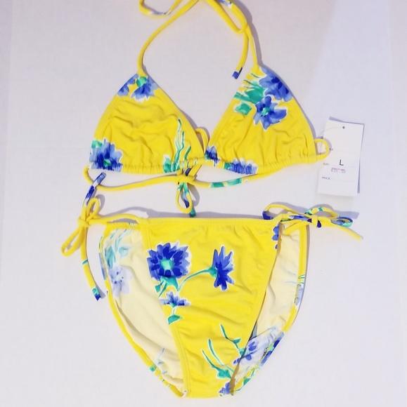3e2466562345d Ce-doox Swim   Yellow Floral String Bikini   Poshmark